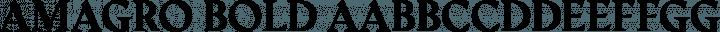 Amagro bold free font