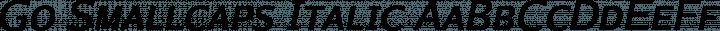 Go Smallcaps Italic free font