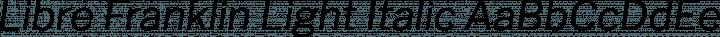 Libre Franklin Light Italic free font