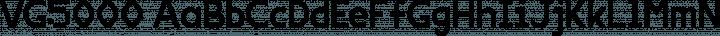 VG5000 Regular free font