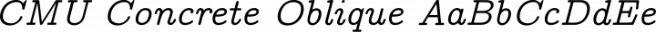 CMU Concrete Oblique free font