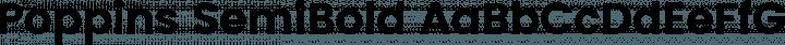 Poppins SemiBold free font