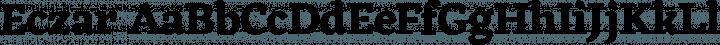 Eczar font family by Rosetta