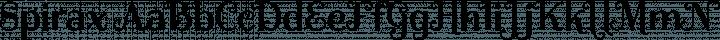Spirax Regular free font