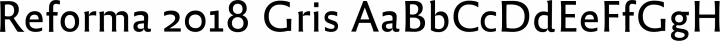Reforma 2018 Gris free font
