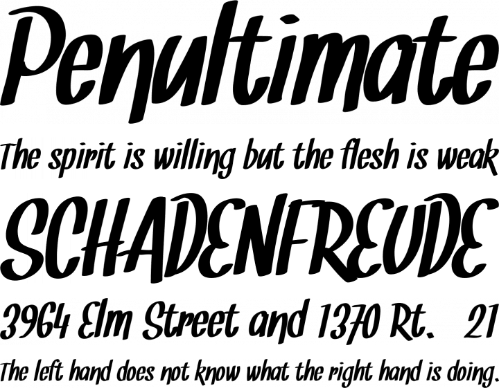 snickles free font