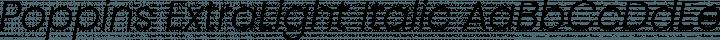 Poppins ExtraLight Italic free font