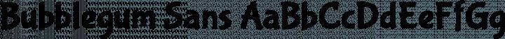 Bubblegum Sans font family by Sudtipos