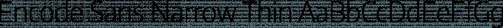Encode Sans Narrow Thin free font