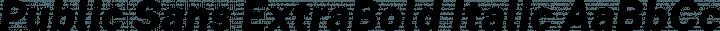 Public Sans ExtraBold Italic free font