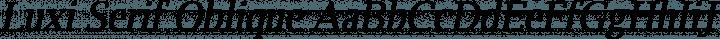 Luxi Serif Oblique free font