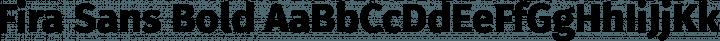 Fira Sans Bold free font