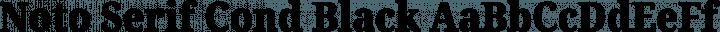 Noto Serif Cond Black free font