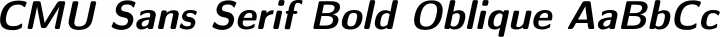CMU Sans Serif Bold Oblique free font
